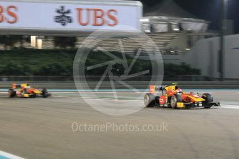 World © Octane Photographic Ltd. Friday 27th November 2015. Racing Engineering – Alexander Rossi and Jordan King. GP2 Qualifying, Yas Marina, Abu Dhabi. Digital Ref. : 1481CB1L5934