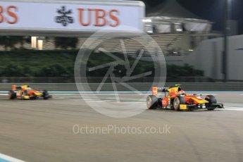 World © Octane Photographic Ltd. Friday 27th November 2015. Racing Engineering – Alexander Rossi and Jordan King. GP2 Qualifying, Yas Marina, Abu Dhabi. Digital Ref. : 1481CB1L5934
