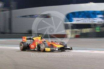 World © Octane Photographic Ltd. Friday 27th November 2015. Racing Engineering – Alexander Rossi. GP2 Qualifying, Yas Marina, Abu Dhabi. Digital Ref. : 1481CB1L5984