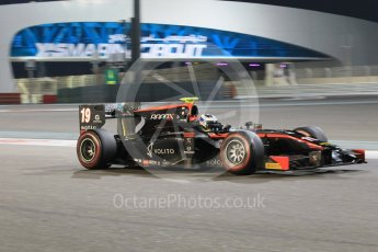 World © Octane Photographic Ltd. Friday 27th November 2015. Rapax – Gustav Malja. GP2 Qualifying, Yas Marina, Abu Dhabi. Digital Ref. : 1481CB1L6037