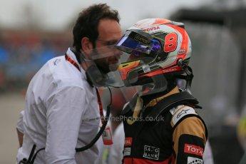 World © Octane Photographic Ltd. Lotus F1 Team E23 Hybrid – Romain Grosjean. Saturday 14th March 2015, F1 Australian GP Qualifying Parc Ferme, Melbourne, Albert Park, Australia. Digital Ref: 1206LB1D8085