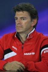 World © Octane Photographic Ltd. Manor Marussia F1 Team – Graham Lowden - Chief Executive Officer (CEO). Friday 13th March 2015, F1 Australian GP FIA Team Boss Press Conference, Melbourne, Albert Park, Australia. Digital Ref: 1202LB1D6243