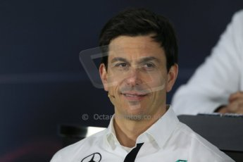 World © Octane Photographic Ltd. Mercedes AMG Petronas – Toto Wolff – Head of Mercedes Motorsport. Friday 13th March 2015, F1 Australian GP FIA Team Boss Press Conference, Melbourne, Albert Park, Australia. Digital Ref: 1202LB1D6278