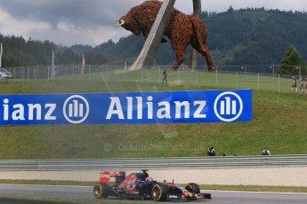 World © Octane Photographic Ltd. Scuderia Toro Rosso STR10 – Max Verstappen. Friday 19th June 2015, F1 Austrian GP Practice 1, Red Bull Ring, Spielberg, Austria. Digital Ref: 1304CB7D3187