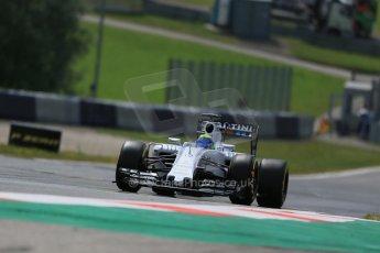 World © Octane Photographic Ltd. Williams Martini Racing FW37 – Felipe Massa. Friday 19th June 2015, F1 Austrian GP Practice 1, Red Bull Ring, Spielberg, Austria. Digital Ref: 1304LB1D5300