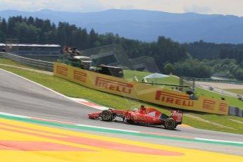 World © Octane Photographic Ltd. Scuderia Ferrari SF15-T– Sebastian Vettel. Friday 19th June 2015, F1 Austrian GP Practice 1, Red Bull Ring, Spielberg, Austria. Digital Ref: 1304LW1L2626