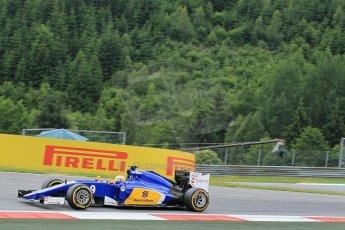 World © Octane Photographic Ltd. Sauber F1 Team C34-Ferrari – Marcus Ericsson. Friday 19th June 2015, F1 Austrian GP Practice 1, Red Bull Ring, Spielberg, Austria. Digital Ref: 1304LW1L2680