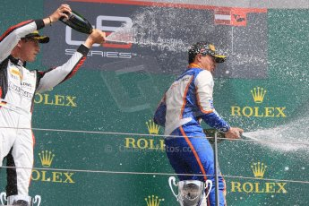 World © Octane Photographic Ltd. Sunday 21st June 2015. ART Grand Prix – Marvin Kirchhofer and Trident – Oscar Tunjo. GP3 Race 2 – Red Bull Ring, Spielberg, Austria. Digital Ref. : 1316CB7D6996