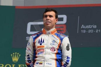 World © Octane Photographic Ltd. Sunday 21st June 2015. Trident – Oscar Tunjo. GP3 Race 2 – Red Bull Ring, Spielberg, Austria. Digital Ref. : 1316LB1D8960