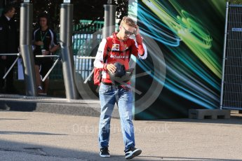 World © Octane Photographic Ltd. Scuderia Ferrari SF15-T– Sebastian Vettel. Friday 21st August 2015, F1 Belgian GP Paddock, Spa-Francorchamps, Belgium. Digital Ref: 1379LB1D7567