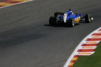 World © Octane Photographic Ltd. Sauber F1 Team C34-Ferrari – Felipe Nasr. Saturday 22nd August 2015, F1 Belgian GP Qualifying, Spa-Francorchamps, Belgium. Digital Ref: 1382LB1D0303