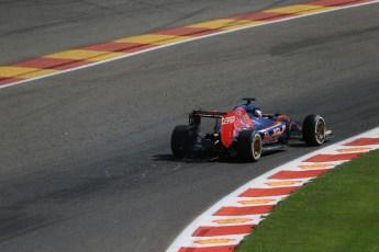 World © Octane Photographic Ltd. Scuderia Toro Rosso STR10 – Max Verstappen. Saturday 22nd August 2015, F1 Belgian GP Qualifying, Spa-Francorchamps, Belgium. Digital Ref: 1382LB1D0321