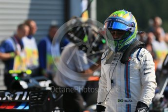 World © Octane Photographic Ltd. Williams Martini Racing FW37 – Felipe Massa. Saturday 22nd August 2015, F1 Belgian GP Qualifying Parc Ferme, Spa-Francorchamps, Belgium. Digital Ref: