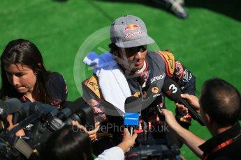 World © Octane Photographic Ltd. Scuderia Toro Rosso STR10 – Carlos Sainz Jnr. Saturday 22nd August 2015, F1 Belgian GP Post-Qualifying Media Interviews, Spa-Francorchamps, Belgium. Digital Ref: 1382LB1D0851