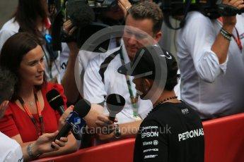 World © Octane Photographic Ltd. FIA Drivers' Press Conference. Thursday 23rd July 2015, F1 Belgian GP, Spa-Francorchamps, Belgium. Lewis Hamilton – Mercedes AMG Petronas. Digital Ref: 1371LB1D7378