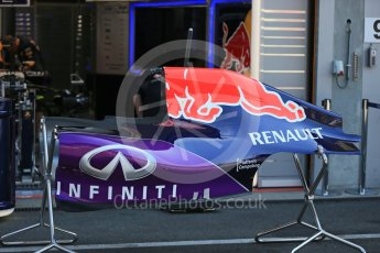 World © Octane Photographic Ltd. Infiniti Red Bull Racing RB11. Thursday 20th August 2015, F1 Belgian GP Pitlane, Spa-Francorchamps, Belgium. Digital Ref: 1370LB1D6733