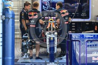World © Octane Photographic Ltd. Infiniti Red Bull Racing RB11 – Daniel Ricciardo. Thursday 20th August 2015, F1 Belgian GP Pitlane, Spa-Francorchamps, Belgium. Digital Ref: 1370LB1D6739