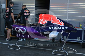 World © Octane Photographic Ltd. Infiniti Red Bull Racing RB11. Thursday 20th August 2015, F1 Belgian GP Pitlane, Spa-Francorchamps, Belgium. Digital Ref: 1370LB1D6752