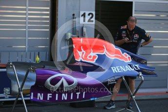 World © Octane Photographic Ltd. Infiniti Red Bull Racing RB11. Thursday 20th August 2015, F1 Belgian GP Pitlane, Spa-Francorchamps, Belgium. Digital Ref: 1370LB1D6758