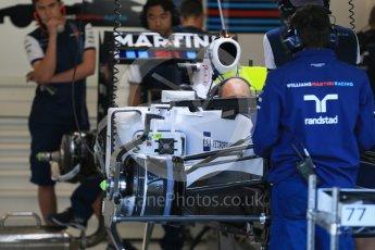 World © Octane Photographic Ltd. Williams Martini Racing FW37 – Valtteri Bottas. Thursday 20th August 2015, F1 Belgian GP Pitlane, Spa-Francorchamps, Belgium. Digital Ref: 1370LB1D6771