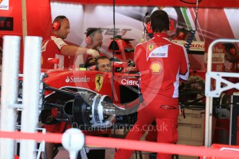 World © Octane Photographic Ltd. Scuderia Ferrari SF15-T– Sebastian Vettel. Thursday 20th August 2015, F1 Belgian GP Pitlane, Spa-Francorchamps, Belgium. Digital Ref: 1370LB1D6860