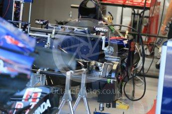 World © Octane Photographic Ltd. Scuderia Toro Rosso STR10. Thursday 20th August 2015, F1 Belgian GP Pitlane, Spa-Francorchamps, Belgium. Digital Ref: 1370LB1D7012