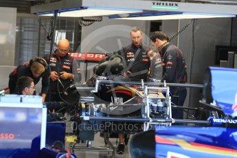 World © Octane Photographic Ltd. Scuderia Toro Rosso STR10. Thursday 20th August 2015, F1 Belgian GP Pitlane, Spa-Francorchamps, Belgium. Digital Ref: 1370LB1D7015