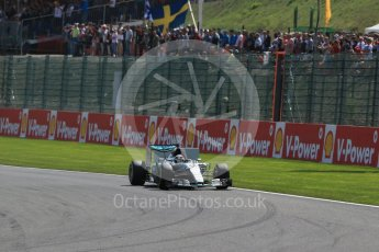 World © Octane Photographic Ltd. Mercedes AMG Petronas F1 W06 Hybrid – Lewis Hamilton. Sunday 23rd August 2015, F1 Belgian GP Race, Spa-Francorchamps, Belgium. Digital Ref: 1389LB1D2096