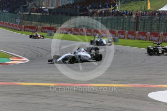 World © Octane Photographic Ltd. Williams Martini Racing FW37 – Valtteri Bottas. Sunday 23rd August 2015, F1 Belgian GP Race, Spa-Francorchamps, Belgium. Digital Ref: 1389LB5D0003