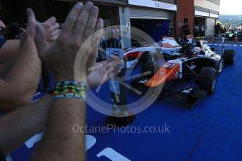 World © Octane Photographic Ltd. Sunday 23rd August 2015. Trident – Luca Ghiotto. GP3 Race 2 Parc Ferme – Spa-Francorchamps, Belgium. Digital Ref. : 1385LB5D9721