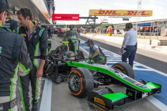 World © Octane Photographic Ltd. Friday 3rd July 2015. Status Grand Prix – Richie Stanaway. GP2 Practice – Silverstone, UK. Digital Ref. : 1329JM1D3201