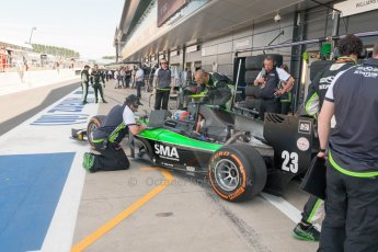 World © Octane Photographic Ltd. Friday 3rd July 2015. Status Grand Prix – Richie Stanaway. GP2 Practice – Silverstone, UK. Digital Ref. : 1329JM1D3212