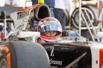 World © Octane Photographic Ltd. Friday 3rd July 2015. Trident – Rene Binder. GP2 Practice – Silverstone, UK. Digital Ref. : 1329JM1D3856