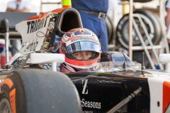 World © Octane Photographic Ltd. Friday 3rd July 2015. Trident – Rene Binder. GP2 Practice – Silverstone, UK. Digital Ref. : 1329JM1D3857