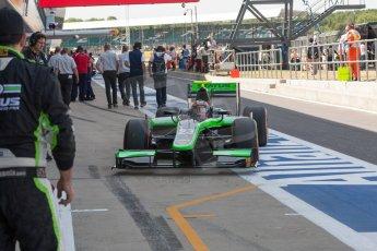 World © Octane Photographic Ltd. Friday 3rd July 2015. Status Grand Prix – Richie Stanaway. GP2 Practice – Silverstone, UK. Digital Ref. : 1329JM1D3898