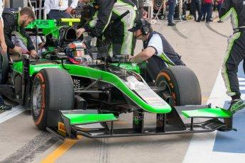 World © Octane Photographic Ltd. Friday 3rd July 2015. Status Grand Prix – Richie Stanaway. GP2 Practice – Silverstone, UK. Digital Ref. : 1329JM1D3905