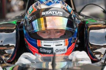 World © Octane Photographic Ltd. Friday 3rd July 2015. Status Grand Prix – Richie Stanaway. GP2 Practice – Silverstone, UK. Digital Ref. : 1329JM1D3907