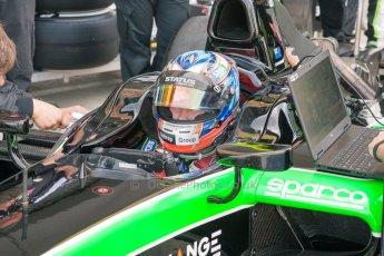 World © Octane Photographic Ltd. Friday 3rd July 2015. Status Grand Prix – Richie Stanaway. GP2 Practice – Silverstone, UK. Digital Ref. : 1329JM1D3961