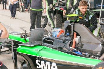World © Octane Photographic Ltd. Friday 3rd July 2015. Status Grand Prix – Richie Stanaway. GP2 Practice – Silverstone, UK. Digital Ref. : 1329JM1D3963
