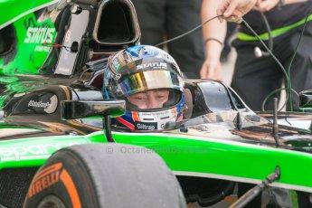 World © Octane Photographic Ltd. Friday 3rd July 2015. Status Grand Prix – Richie Stanaway. GP2 Practice – Silverstone, UK. Digital Ref. : 1329JM1D4053