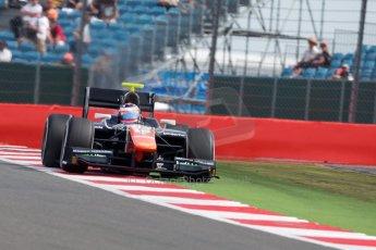 World © Octane Photographic Ltd. Friday 3rd July 2015. Trident – Rene Binder. GP2 Qualifying – Silverstone, UK. Digital Ref. : 1330JM1D3785
