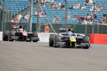 World © Octane Photographic Ltd. Friday 3rd July 2015. DAMS – Alex Lynn and ART Grand Prix – Stoffel Vandoorne. GP2 Qualifying – Silverstone, UK. Digital Ref. : 1330JM1D3807