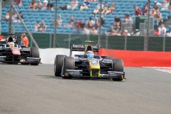 World © Octane Photographic Ltd. Friday 3rd July 2015. DAMS – Alex Lynn and ART Grand Prix – Stoffel Vandoorne. GP2 Qualifying – Silverstone, UK. Digital Ref. : 1330JM1D3808