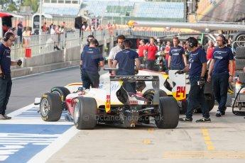 World © Octane Photographic Ltd. Thursday 2nd July 2015. Campos Racing – Zaid Ashkanani and Alex Palou. GP3 Paddock – Silverstone, UK. Digital Ref. : 1331JM1D4121