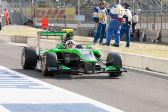 World © Octane Photographic Ltd. Thursday 2nd July 2015. Status Grand Prix – Alex Fontana. GP3 Paddock – Silverstone, UK. Digital Ref. : 1331JM1D4213