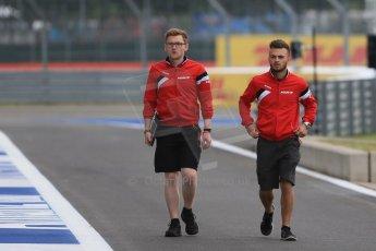 World © Octane Photographic Ltd. Manor Marussia F1 Team MR03B – William Stevens. Thursday 2nd July 2015, F1 British GP Pit Lane, Silverstone, UK. Digital Ref: 1324LB1D2743