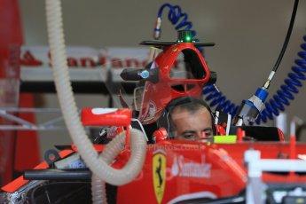 World © Octane Photographic Ltd. Scuderia Ferrari SF15-T. Thursday 2nd July 2015, F1 British GP Pit Lane, Silverstone, UK. Digital Ref: 1324LB1D2866