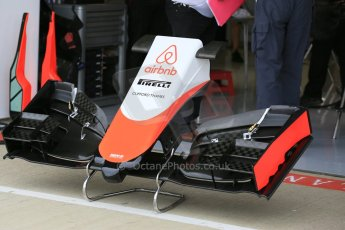World © Octane Photographic Ltd. Manor Marussia F1 Team MR03B. Thursday 2nd July 2015, F1 British GP Pit Lane, Silverstone, UK. Digital Ref: 1324LB5D8393