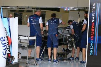World © Octane Photographic Ltd. Williams Martini Racing FW37. Thursday 2nd July 2015, F1 British GP Pit Lane, Silverstone, UK. Digital Ref: 1324LB5D8446