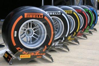 World © Octane Photographic Ltd. Pirelli compounds. Thursday 2nd July 2015, F1 British GP Paddock, Silverstone, UK. Digital Ref: 1324LB5D8562